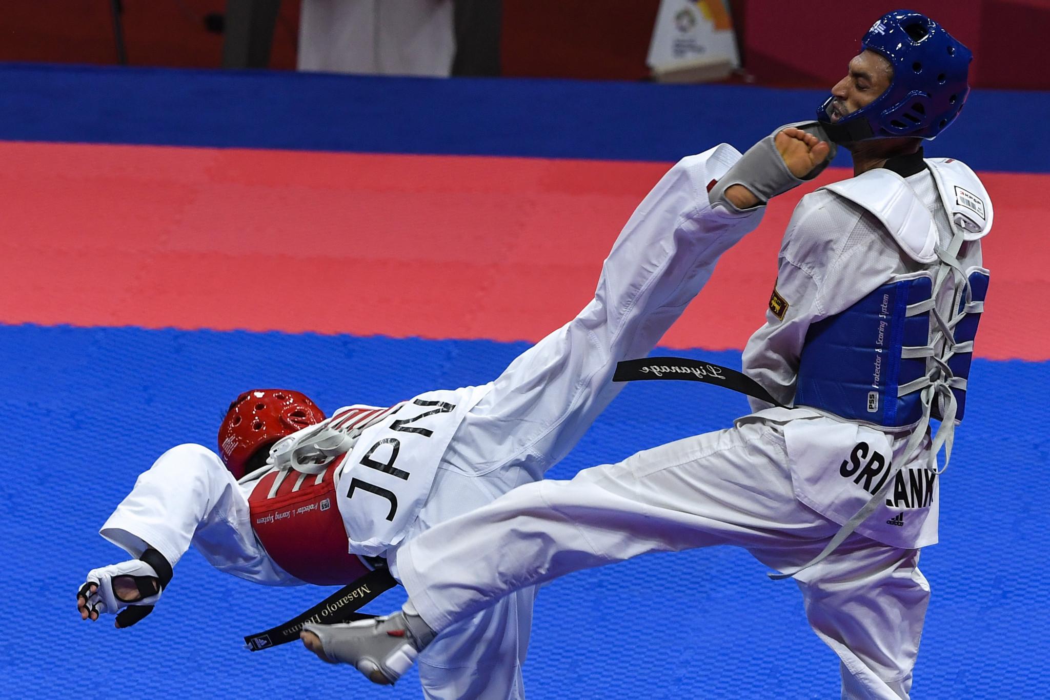 Sri Lankan taekwondo players urged to target Olympic success as South Asian Games medallists honoured