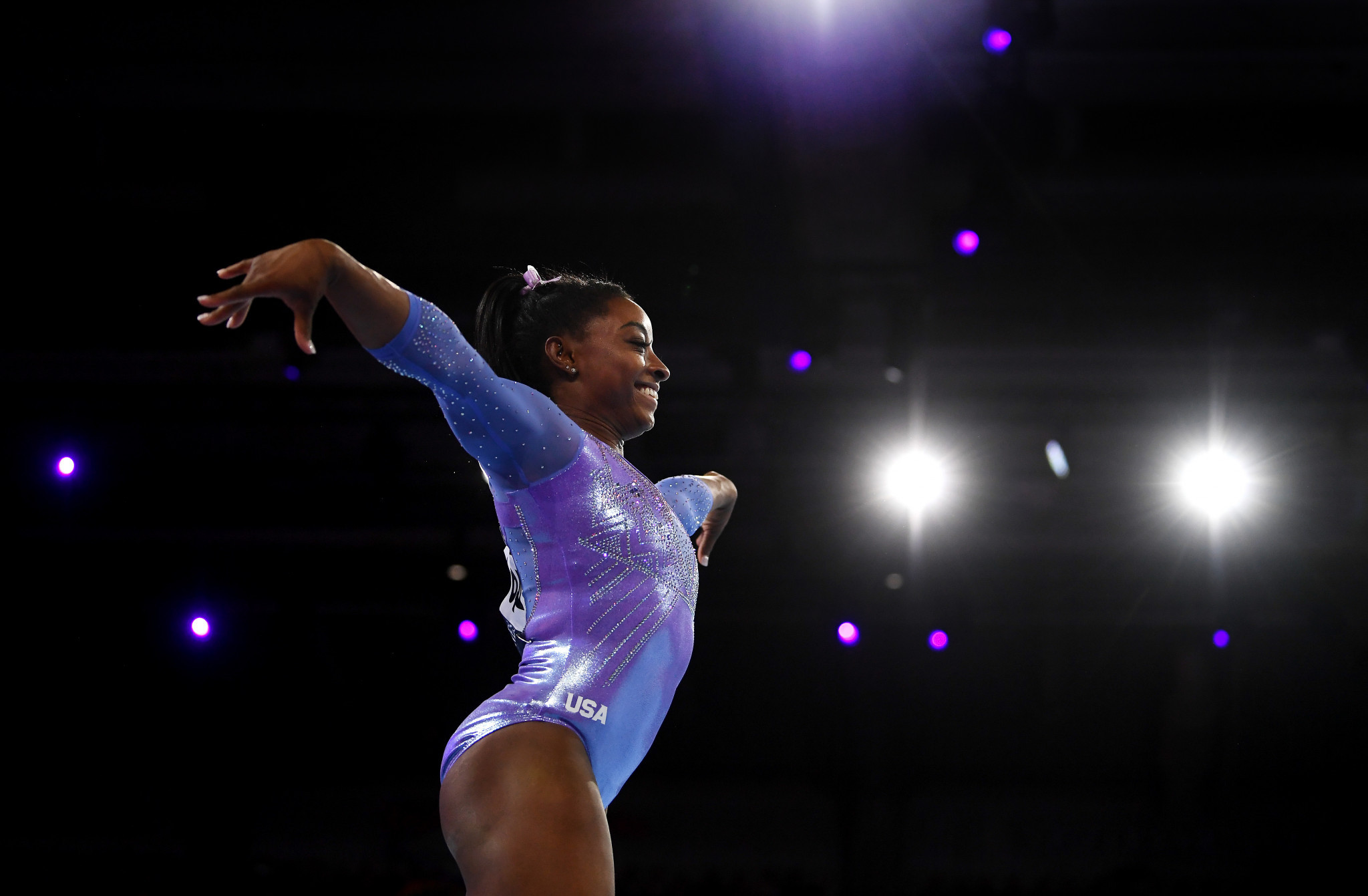 Simone Biles has indicated she may compete at Paris 2024 ©Getty Images