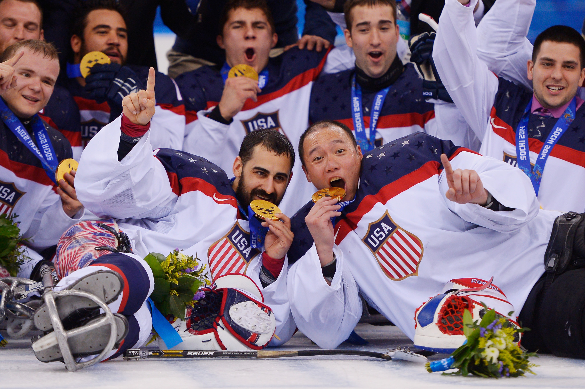 The United States have won three Paralympic gold medals in a row in Para ice hockey ©Getty Images