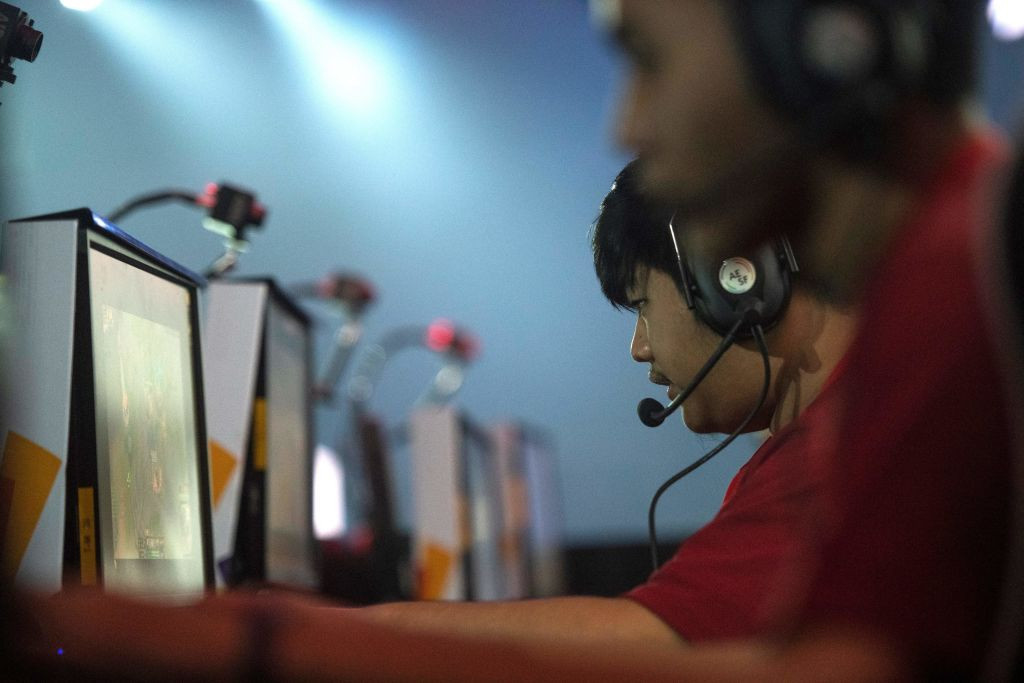 The home team competing in esports when it appeared as a demonstration event at the 2018 Asian Games in Indonesia - at next year's Games in Hangzhou it will be a medal event ©Getty Images