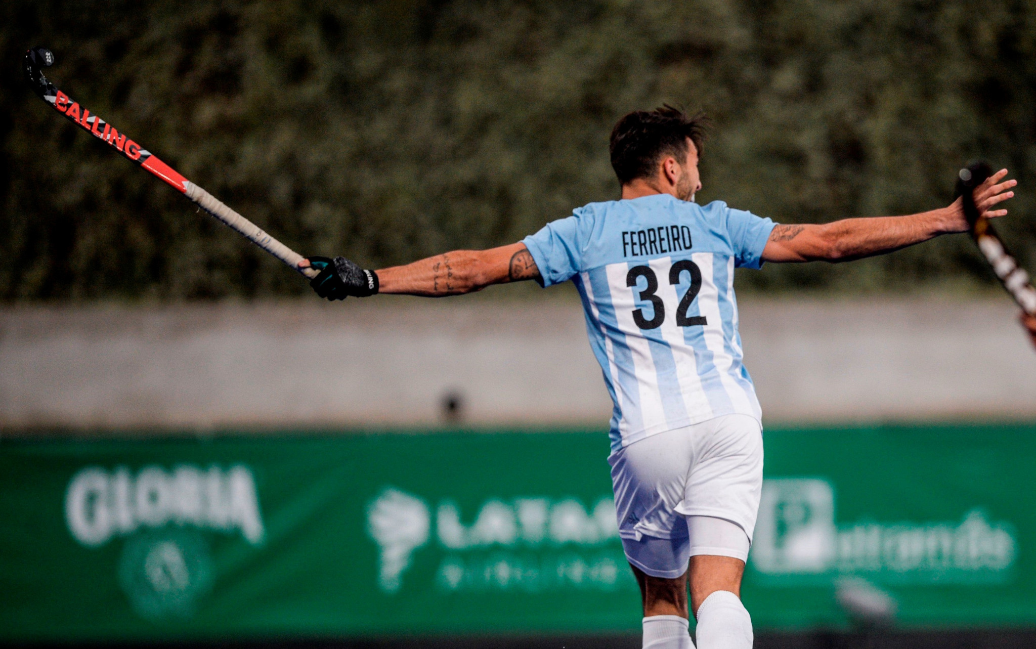 Martin Ferreiro scored twice for Argentina, yet ended up on the losing side ©Getty Images