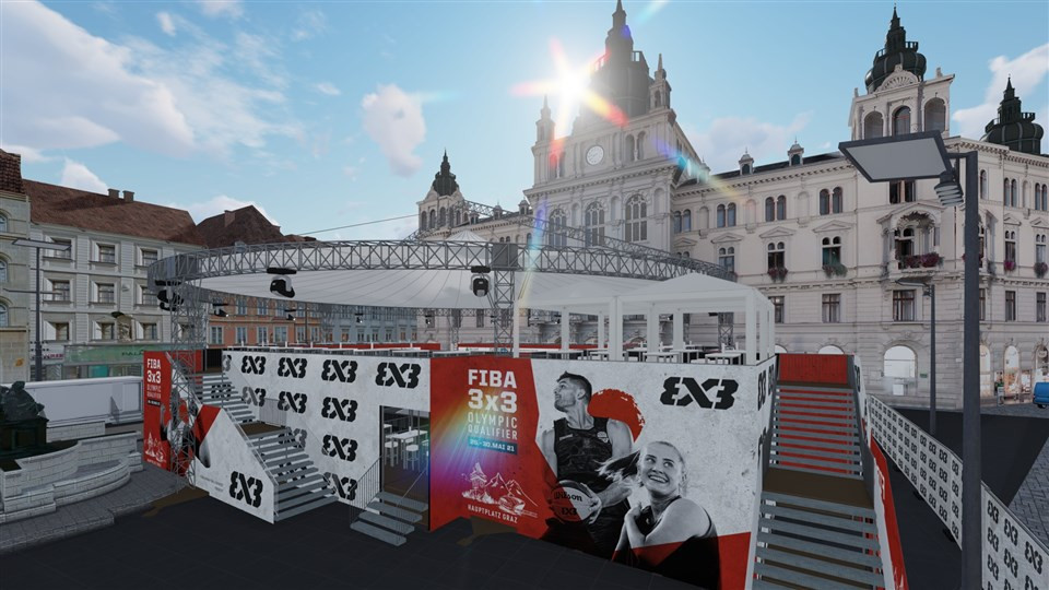 Graz will host a lottery system to allocate seats at the FIBA 3x3 Olympic Qualifying Tournament ©FIBA