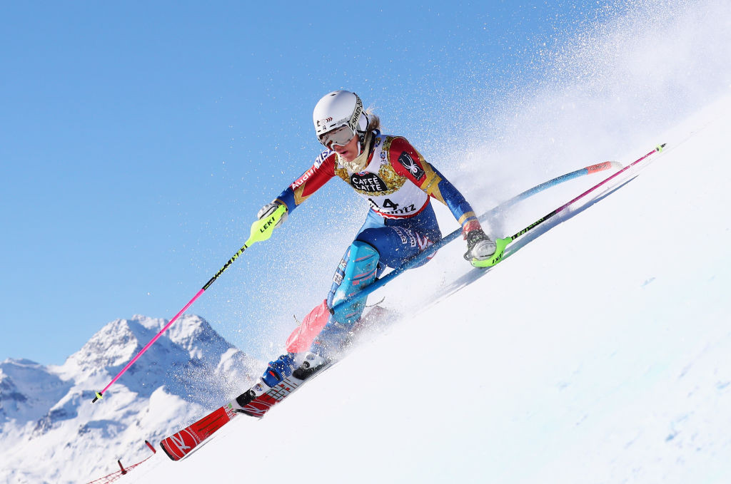 Long-time US alpine ski stalwarts Resi Stiegler, pictured, Laurenne Ross and Alice McKennis Duran have all announced their retirement ©Getty Images