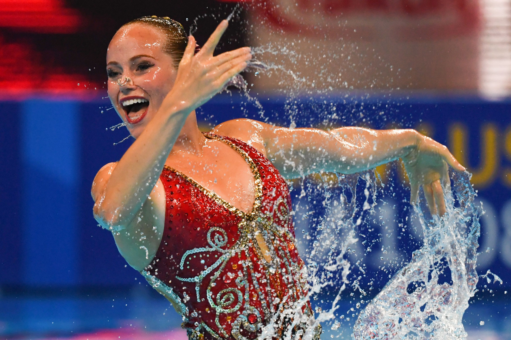 Jacqueline Simoneau won four events in Budapest ©Getty Images