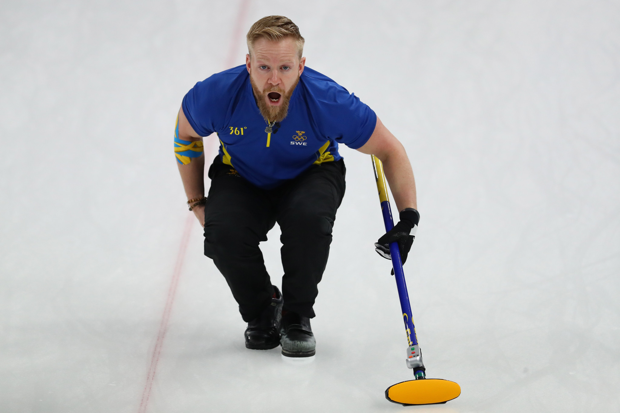 Niklas Edin skippered Sweden to a third successive World Men's Curling Championship title ©Getty Images