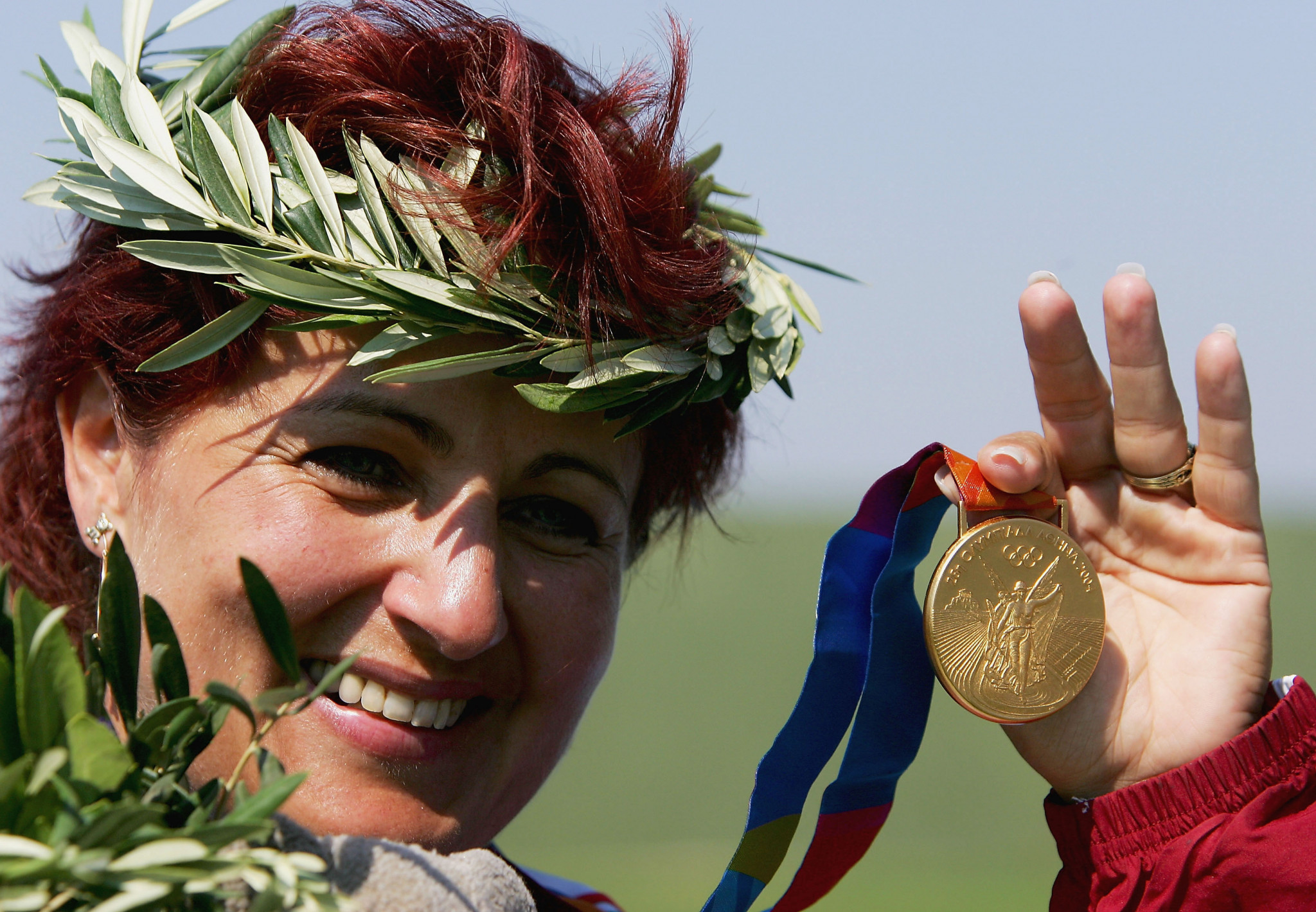 Diána Igaly won women's skeet gold at the Athens 2004 Olympic Games ©Getty Images