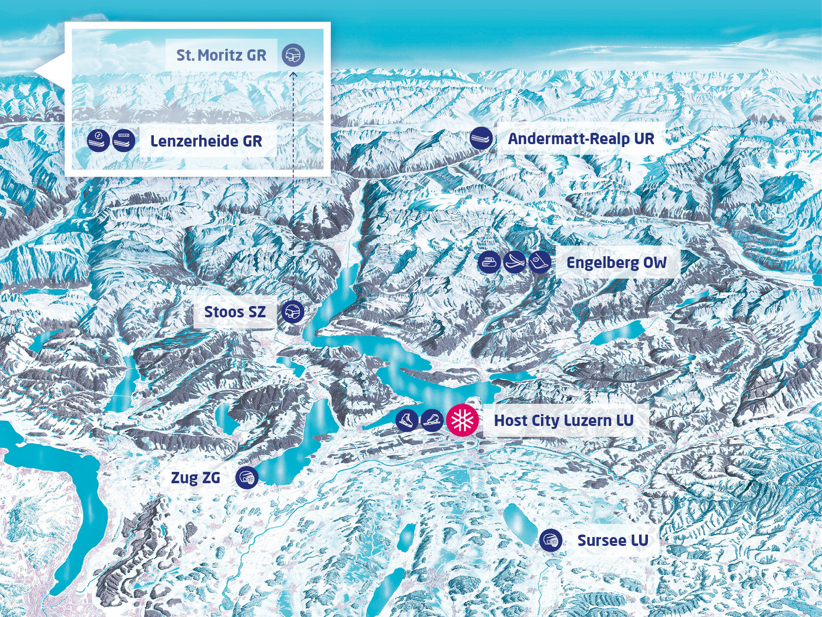 Eight venues are scheduled to host competition at the Lucerne 2021 Winter Universiade ©Lucerne 2021