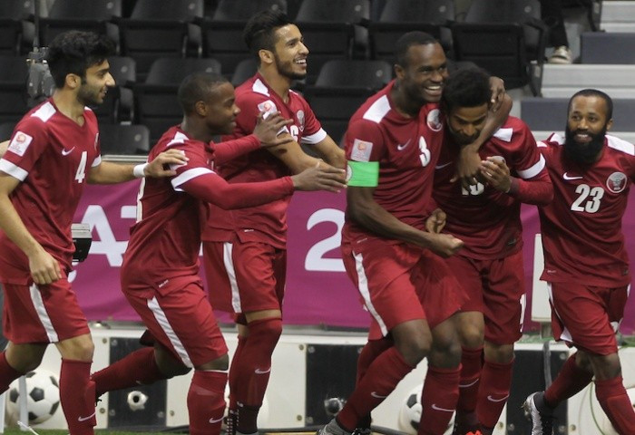 Qatar recovered from the disappointment of conceding a late equaliser to beat North Korea with a 2-1 win ©AFC