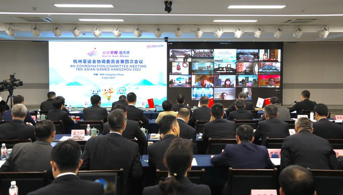 Organisers presented their one year to go plans during the latest OCA Coordination Committee meeting for Hangzhou 2022 ©Hangzhou 2022