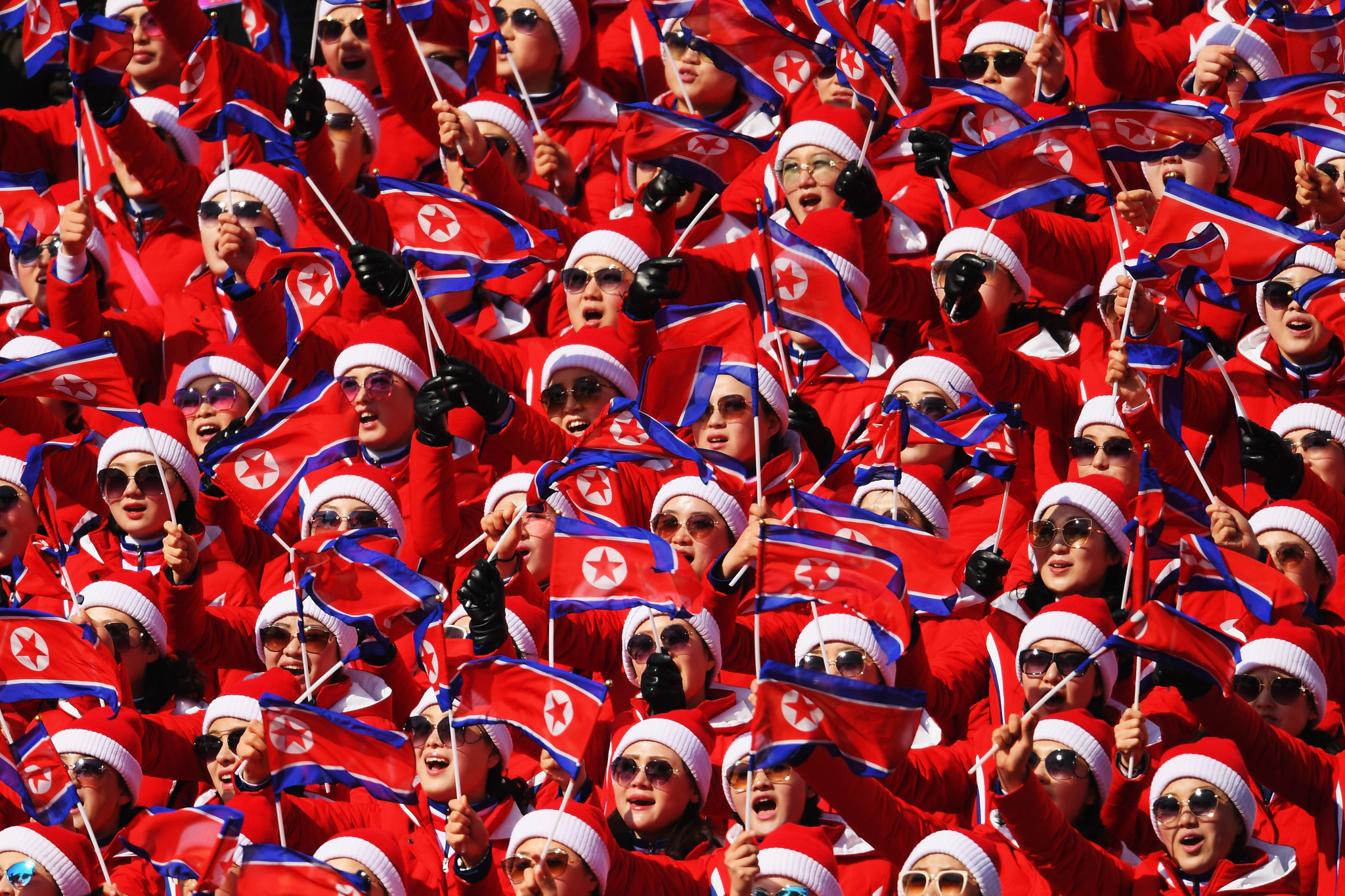 North Korea's choreographed fans will be absent from Tokyo 2020, along with the nation's athletes ©Getty Images