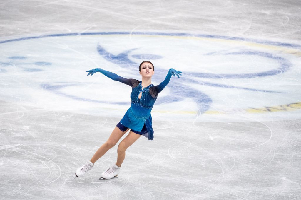 Anna Shcherbakova helped Russia finish the opening day in first place after topping the women's short programme ©Getty Images