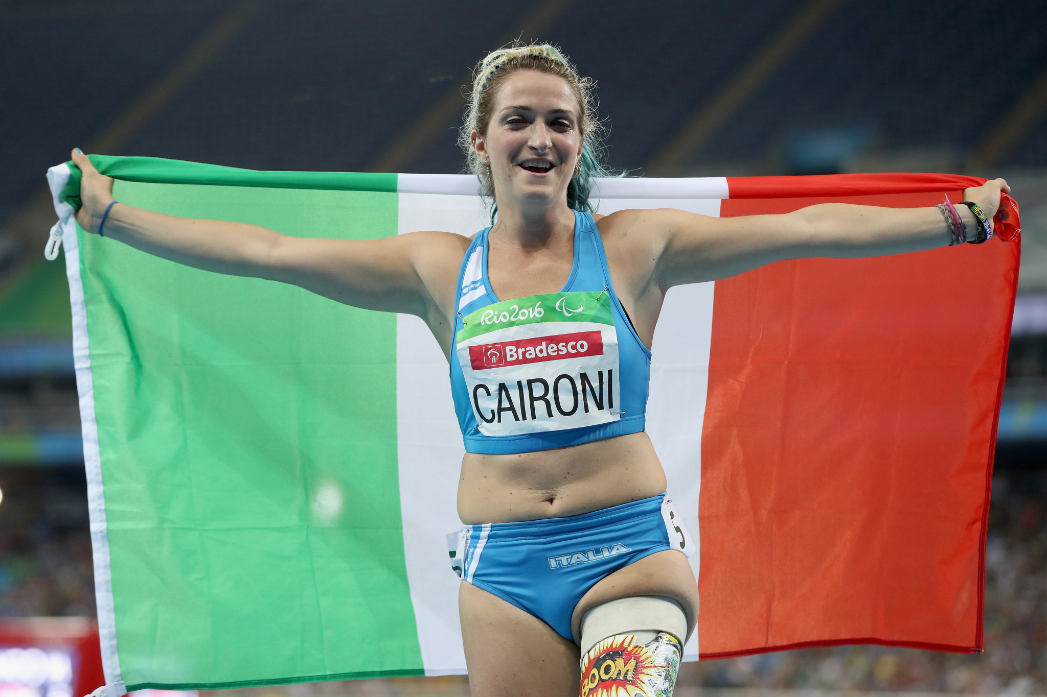 Martina Caironi is one of three Italians set to line-up in the women's 100m T63 on home soil in Jesolo ©Getty Images