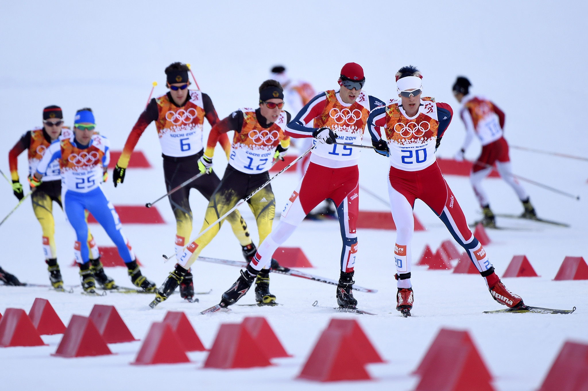Magnus Krog, right, won two medals at the Sochi 2014 Winter Olympics ©Getty Images