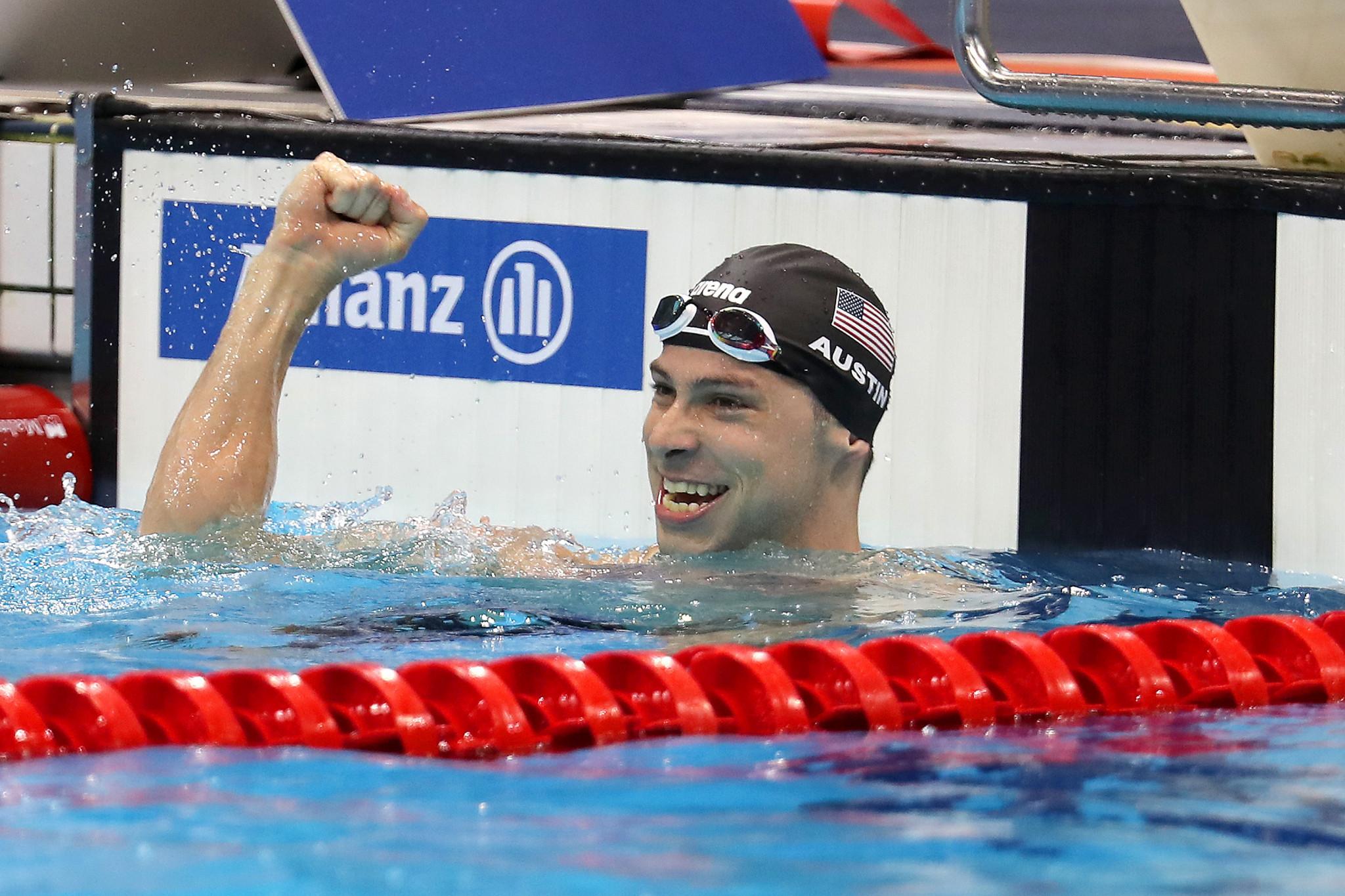 Austin wins double gold at Lewisville World Para Swimming World Series leg