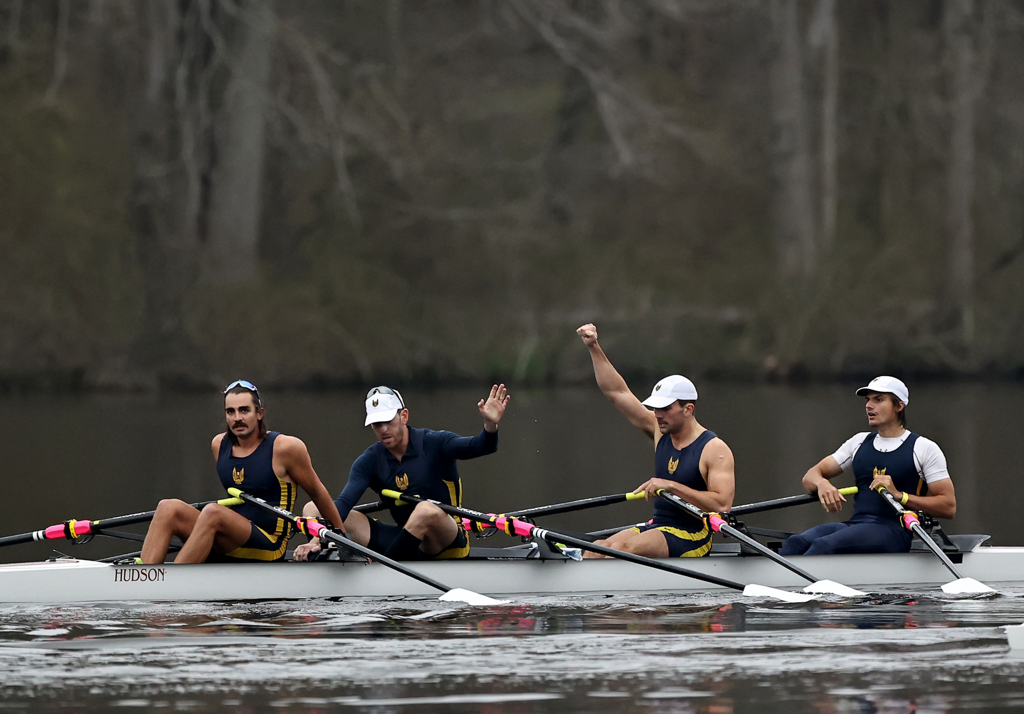 Charles Anderson, Justin Keen, Eliot Putnam and Sorin Koszyk advanced to the world qualification regatta ©Getty Images