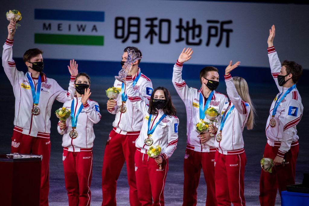Shcherbakova seals Russian triumph at ISU World Team Trophy