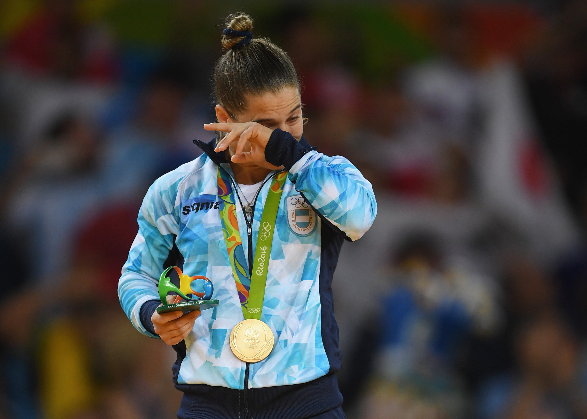 Paula Pareto is another Olympic champion who has been treating COVID-19 patients during the pandemic ©Getty Images
