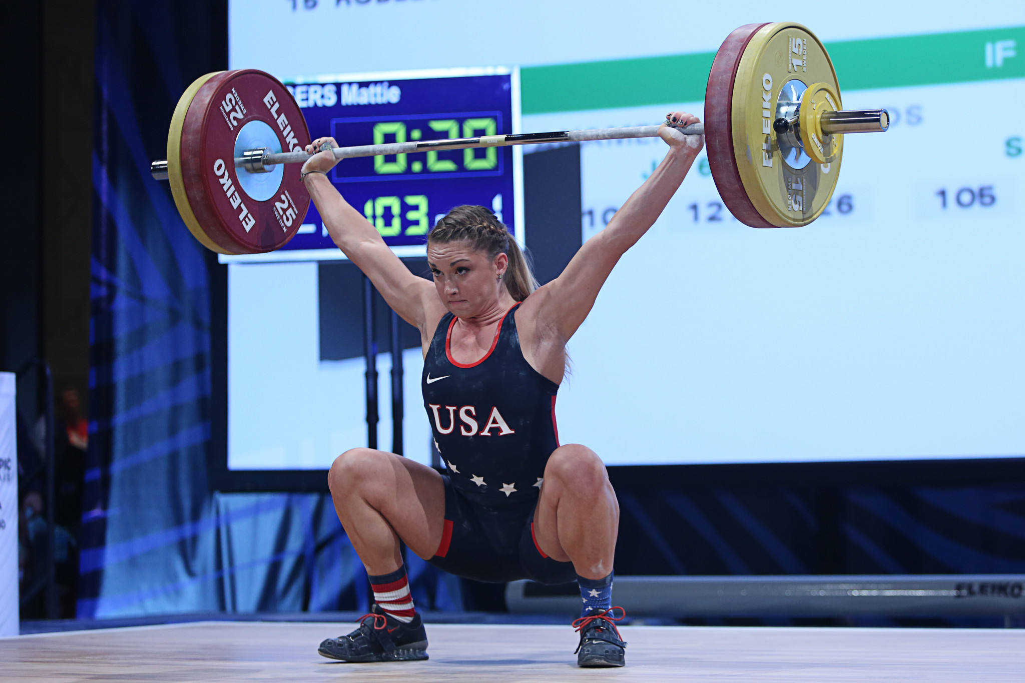 Mattie Rogers will lift for a US team which could benefit in Tokyo from the absence of others ©Getty Images