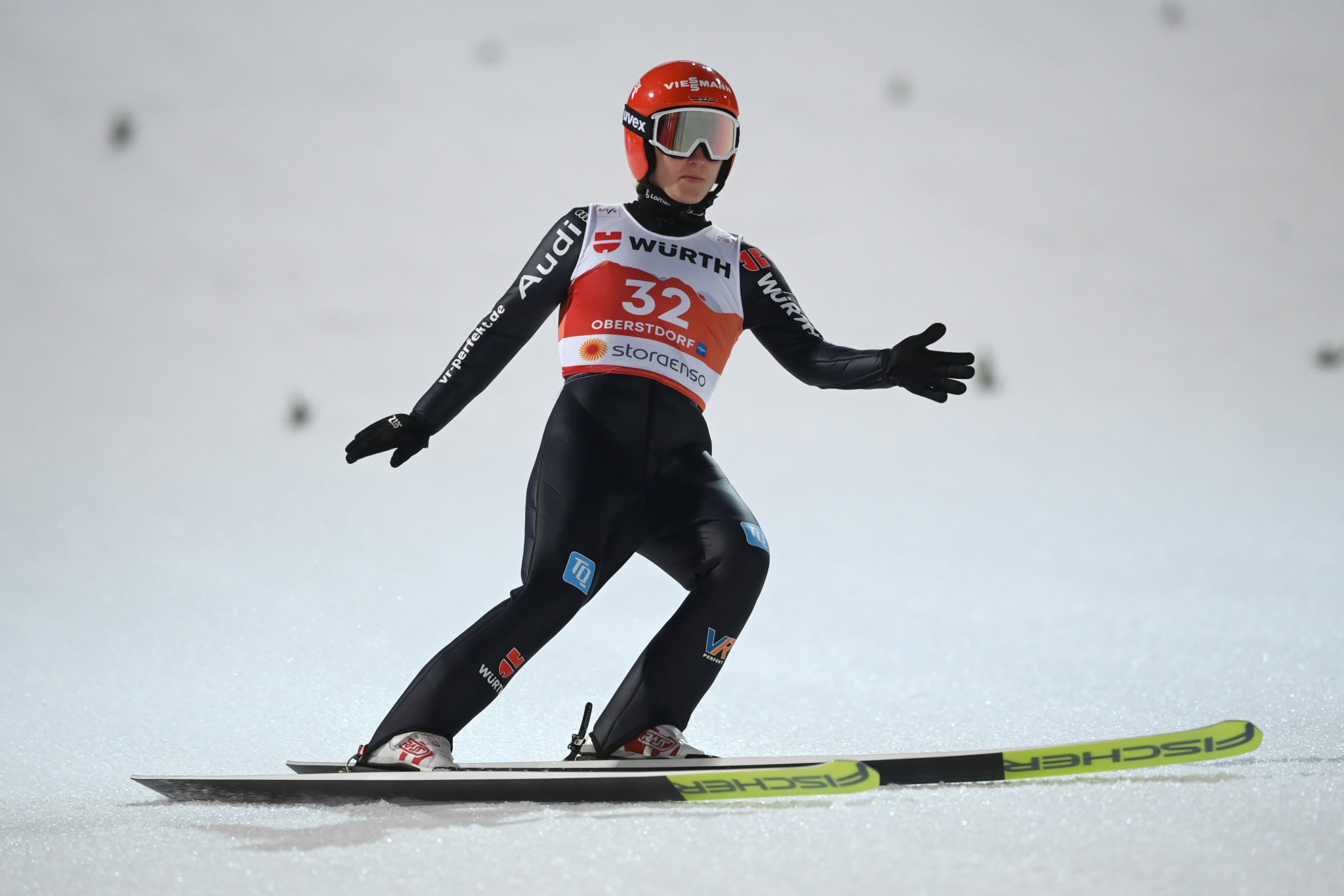 Olympic silver medallist Katharina Althaus is part of the German women's squad ©Getty Images