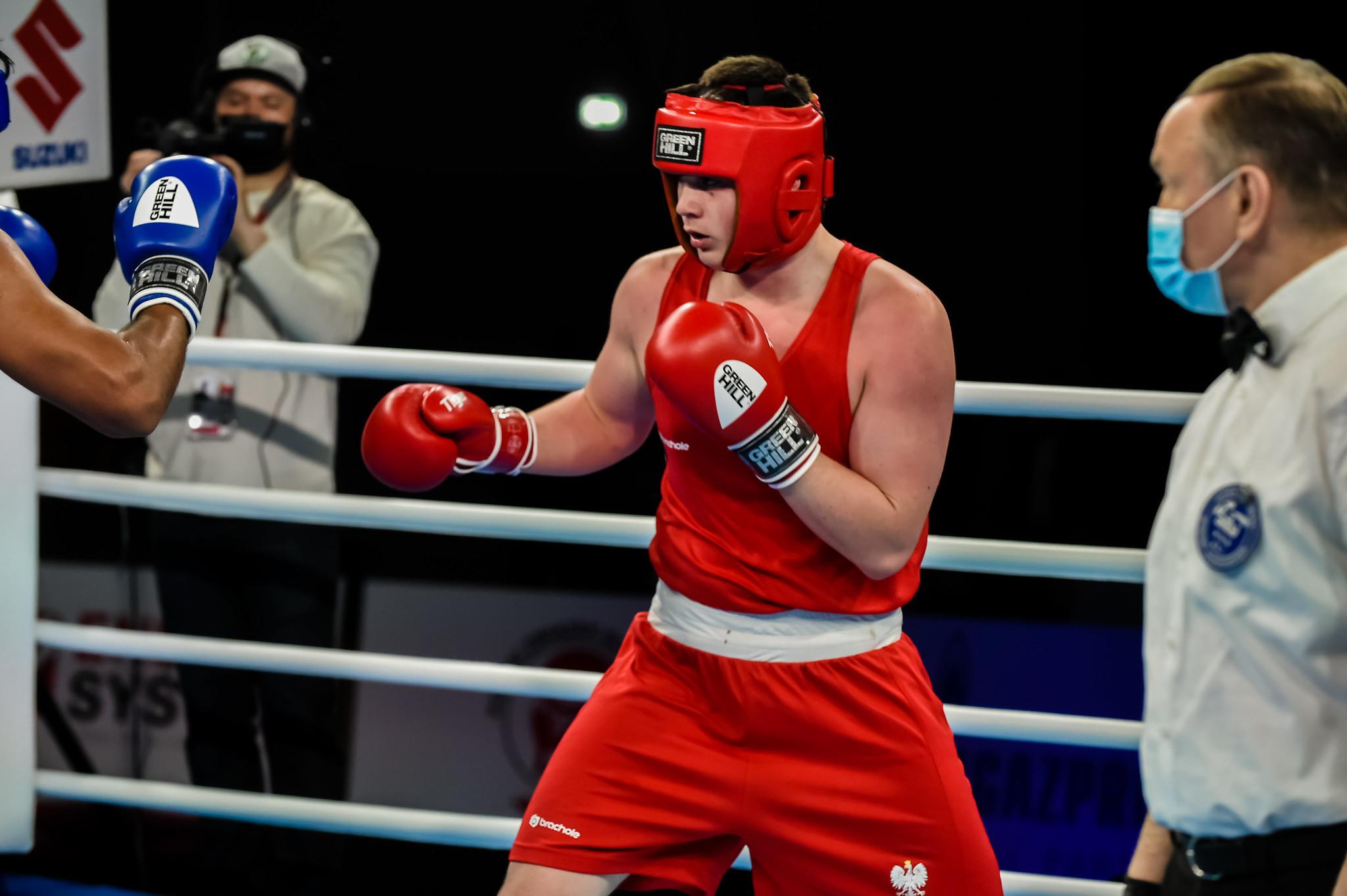 Poland's Jakub Straszewski is into the men's heavyweight final at a home Youth World Championships ©AIBA