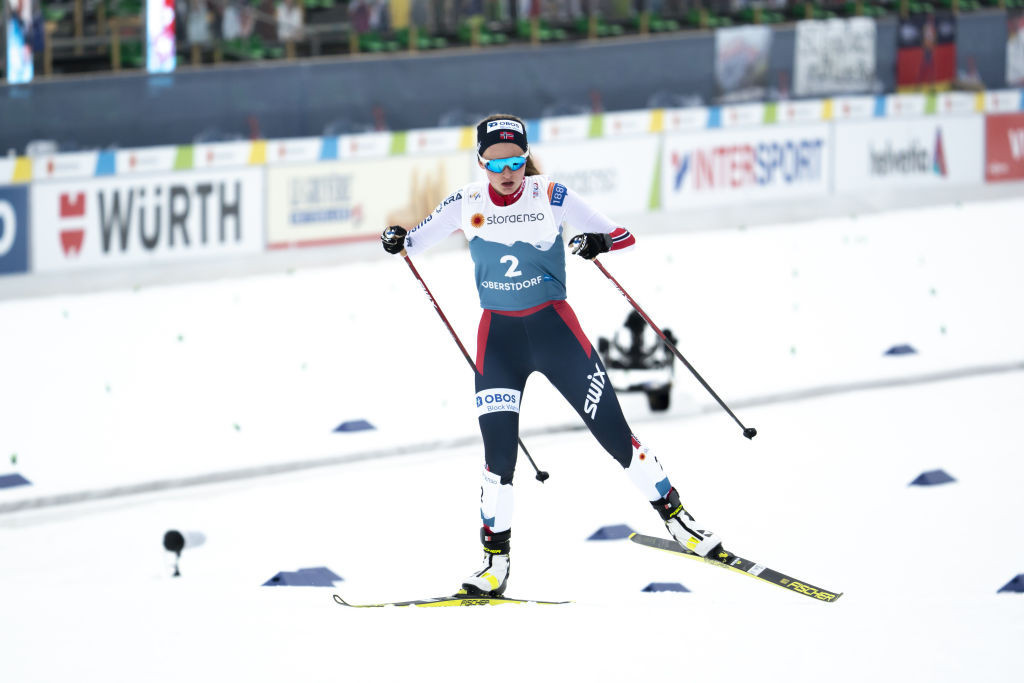Gyda Westvold Hansen of Norway won the first women's Nordic combined world title ©Getty Images