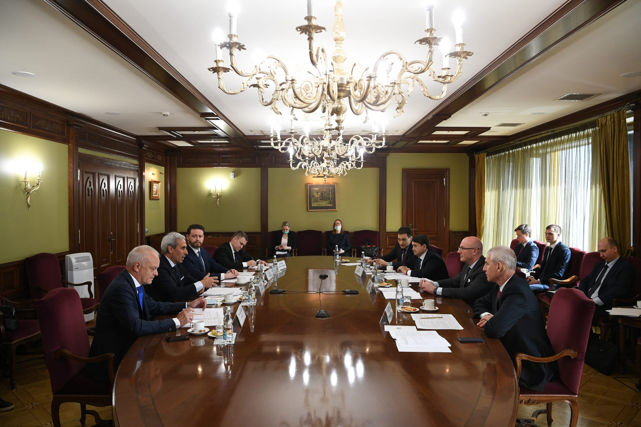 High-level Russian dignitaries met with SportAccord officials to discuss preparations for the event ©SportAccord