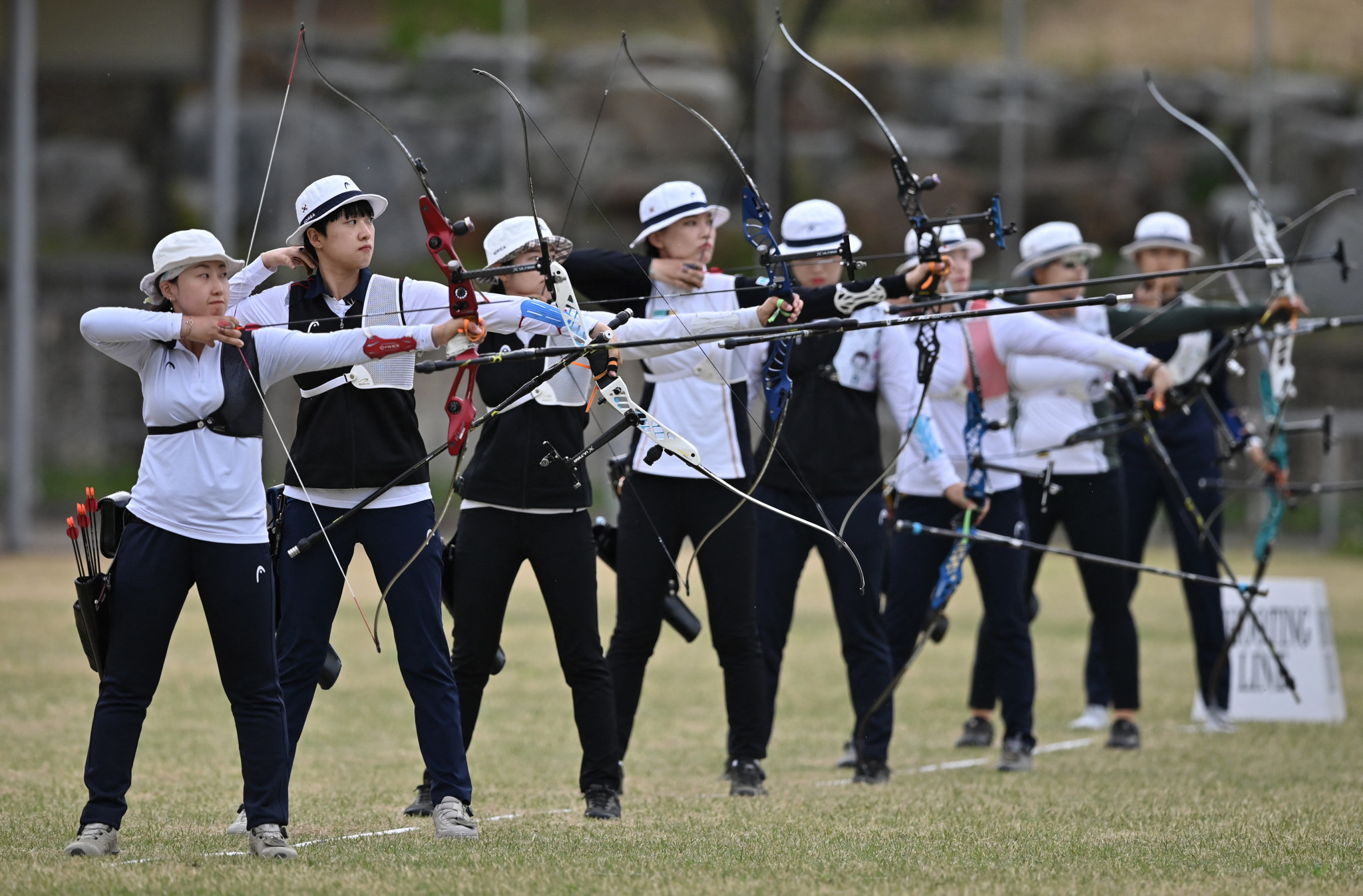 Trials were held to decide South Korea's archery team for the delayed Olympic Games ©Getty Images