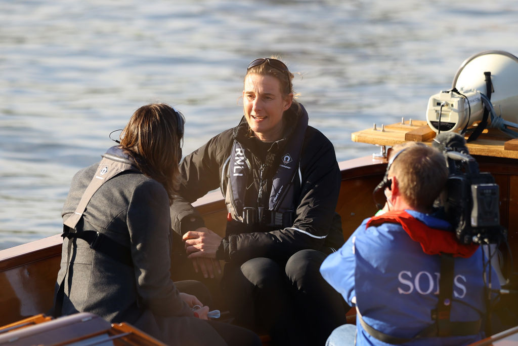 Sarah Winckless, pictured after umpiring the men's Boat Race this month, believes other women will soon emulate her feat ©Getty Images