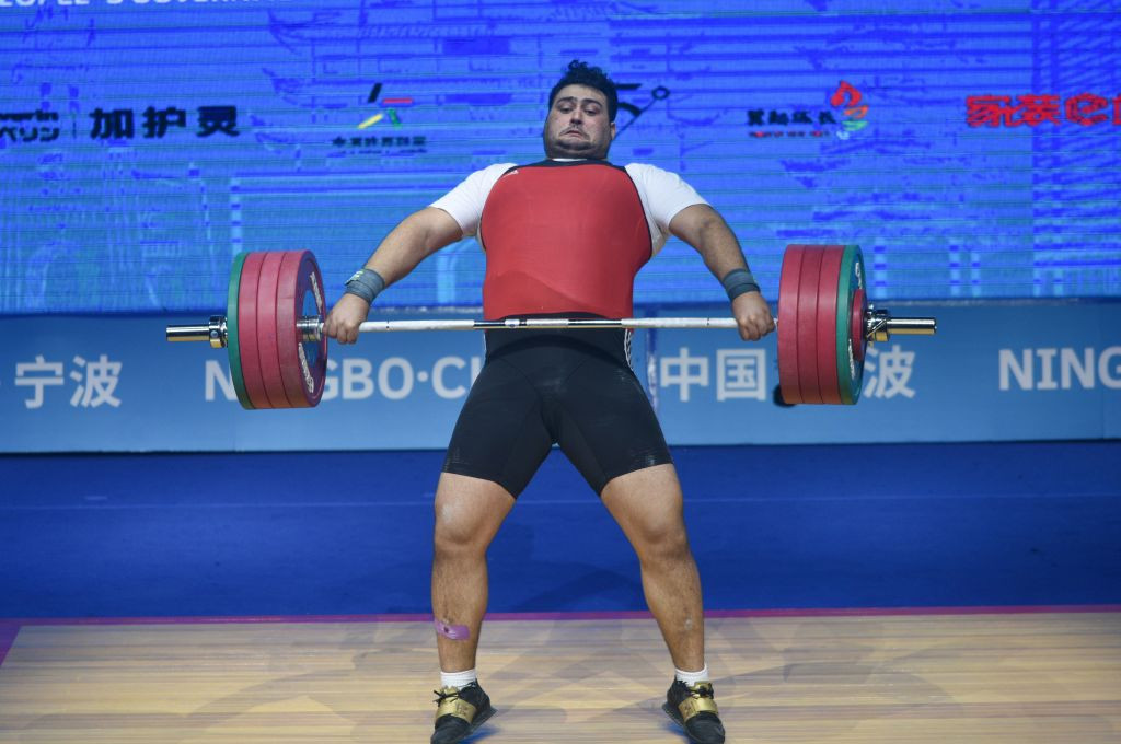 Ali Davoudi of Iran claimed the men's super-heavyweight title on the final day of the competition in Tashkent ©Getty Images