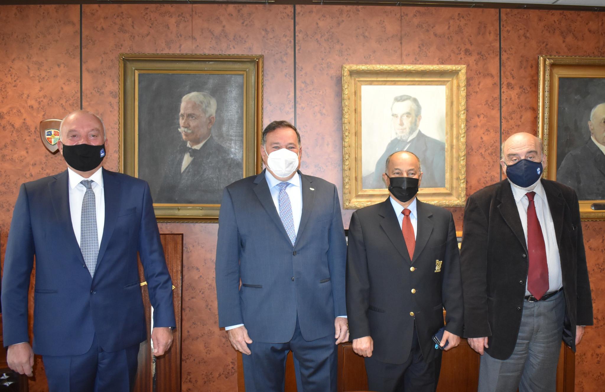 From left to right, Kyriakos Giannopoulos, Spyros Capralos, Husain Al-Musallam and Manolis Kolympadis ©HOC