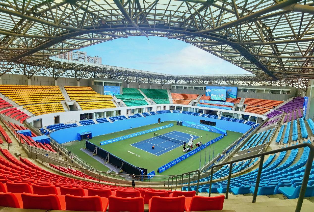 Chengdu 2021's tennis test event is underway ©Chengdu 2021