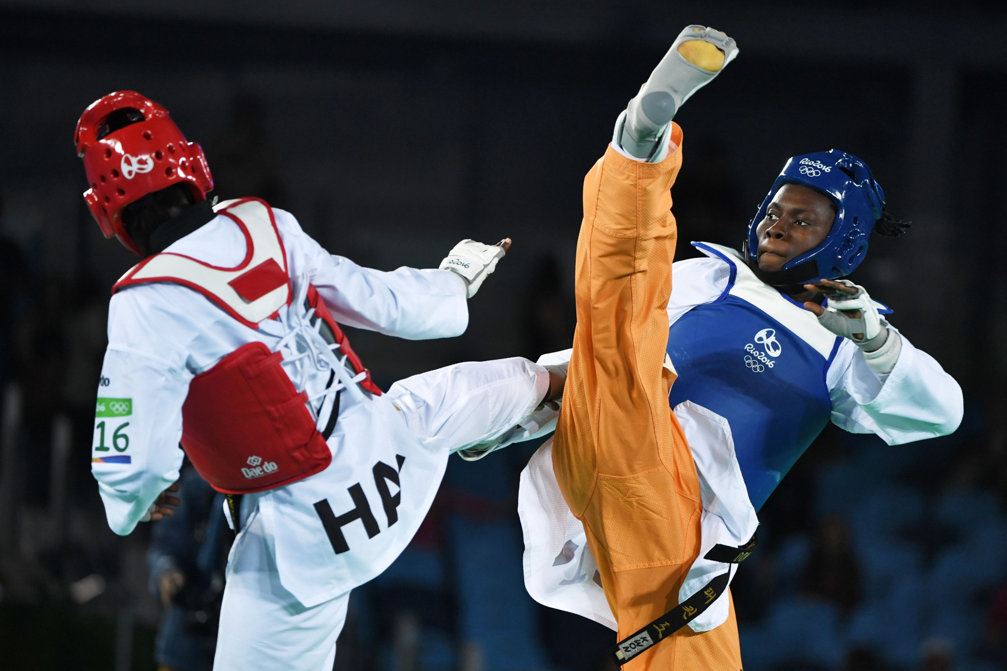 Ruth Gbagbi, right, has won World Championship gold and Olympic bronze during her career ©Getty Images