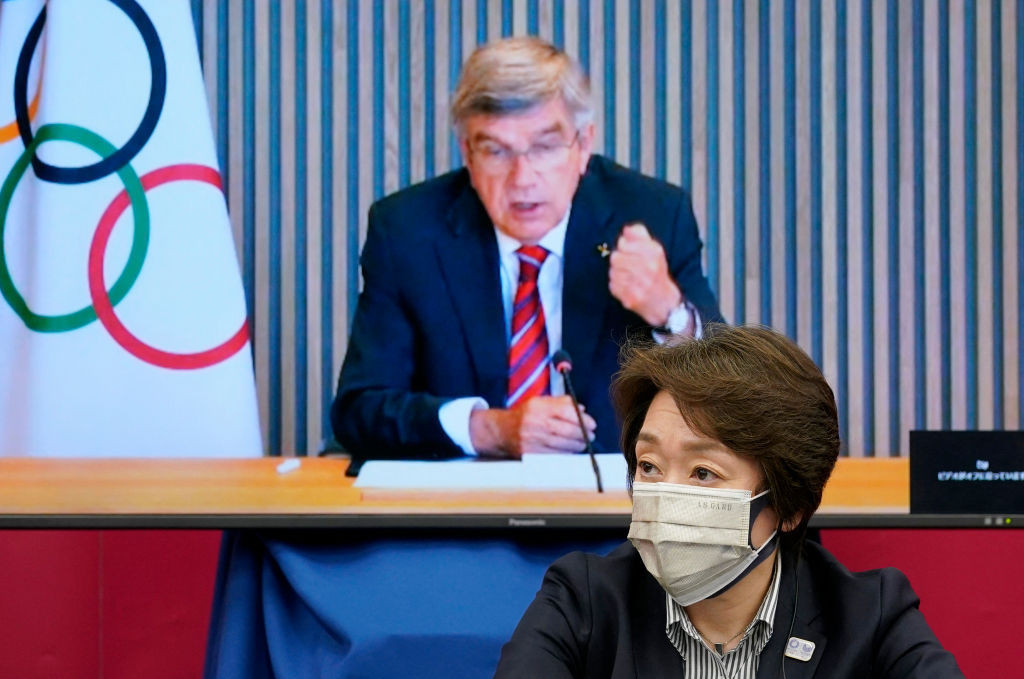 IOC President Thomas Bach was among the attendees during a five-party meeting on Tokyo 2020 today ©Getty Images