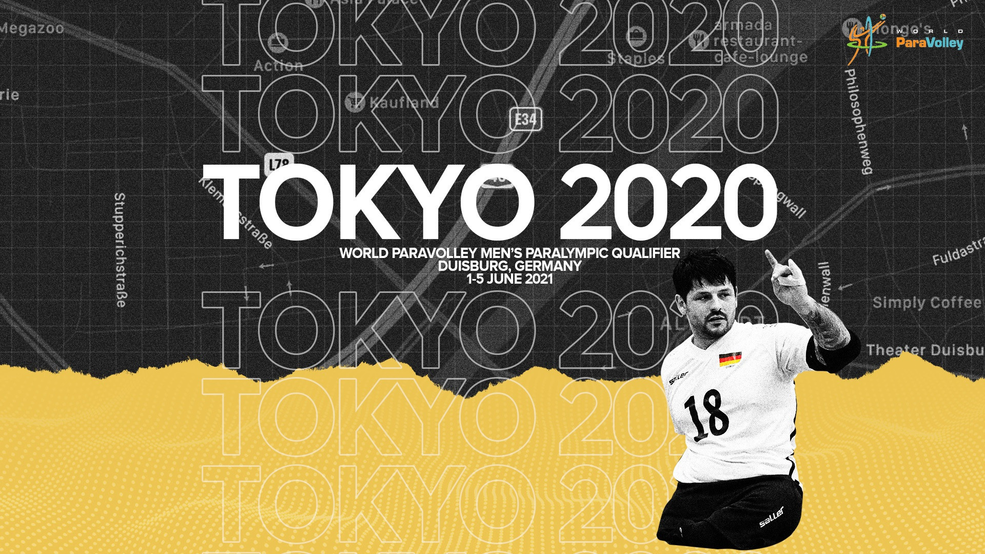 Duisburg in Germany is set to stage the final men's sitting volleyball qualification event for Tokyo 2020 next month ©World ParaVolley