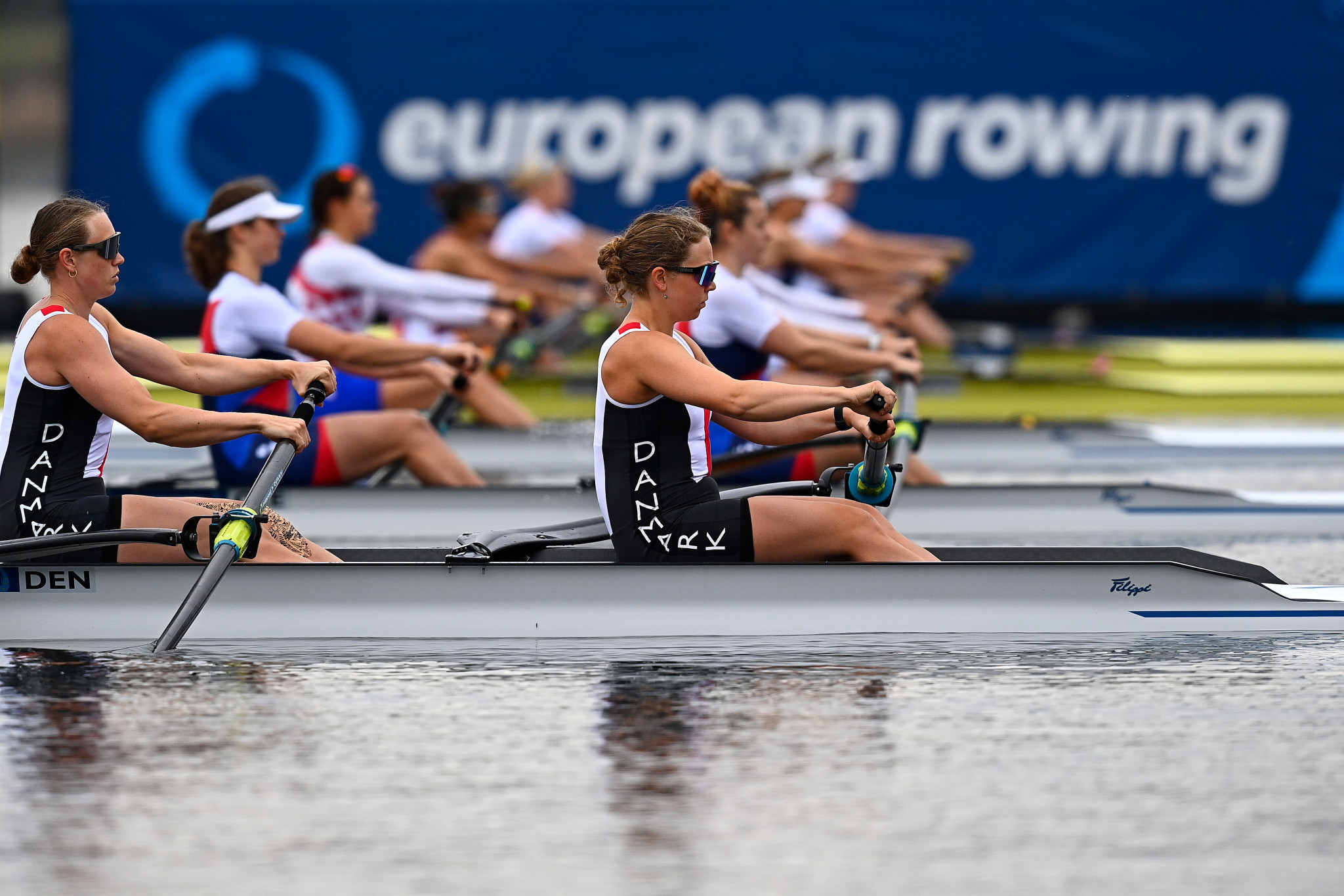 Twins Ivana and Josipa Jurkovic of Croatia claimed a dominant victory on home water in the women's pair at the first Rowing World Cup regatta in Zagreb ©Getty Images