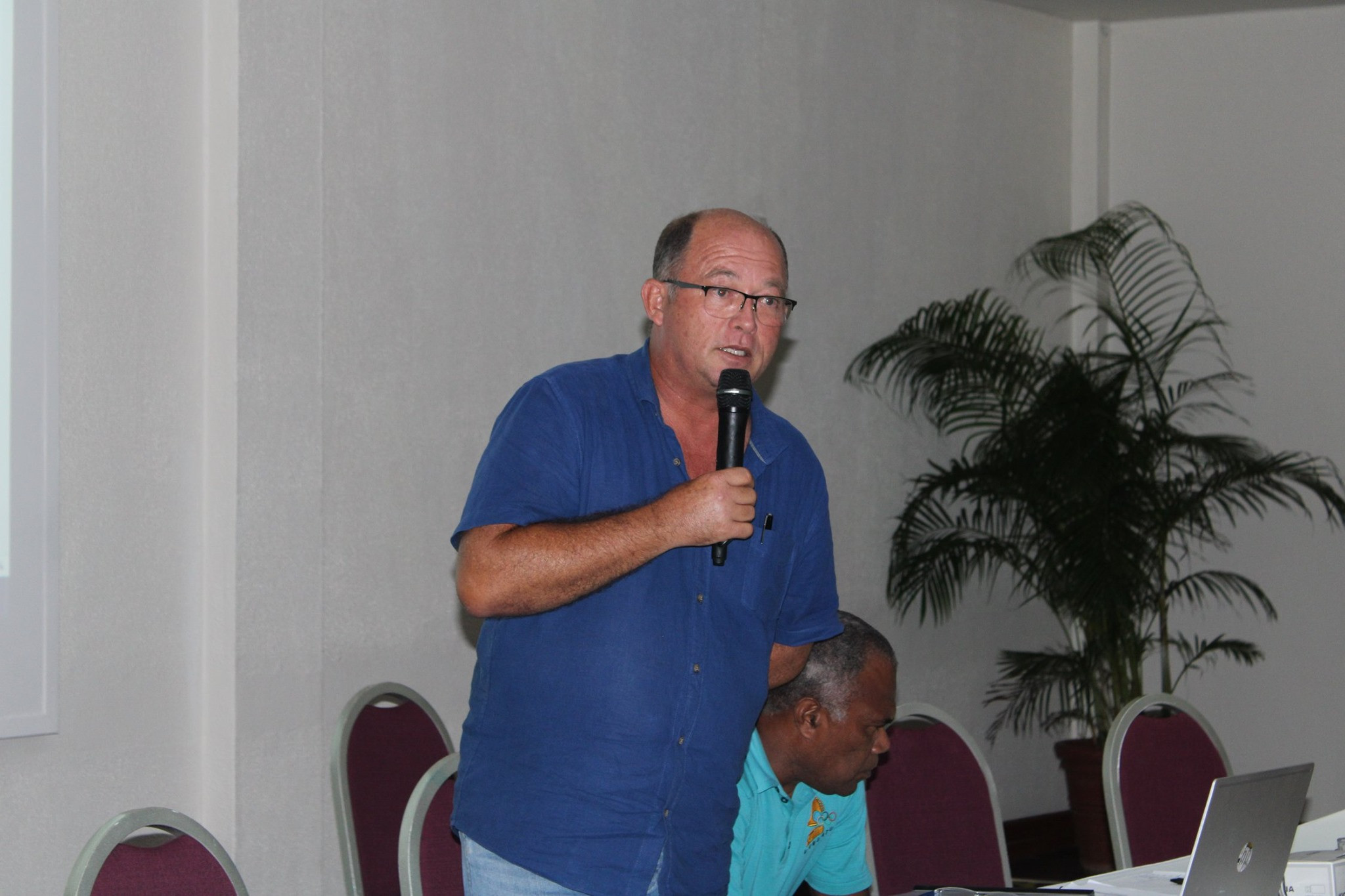 Antoine Boudier was re-elected as VASANOC President ©VASANOC