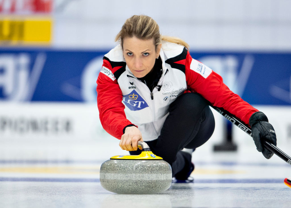Switzerland are one of only two remaining unbeaten teams at the World Women's Curling Championship ©Getty Images