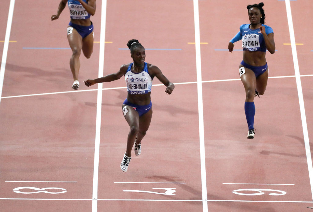 Britain's Dina Asher-Smith, pictured winning the world 200m title in Doha two years ago, is due to race at Gateshead when it hosts the opening Wanda Diamond League meeting of the season on May 23 ©Getty Images
