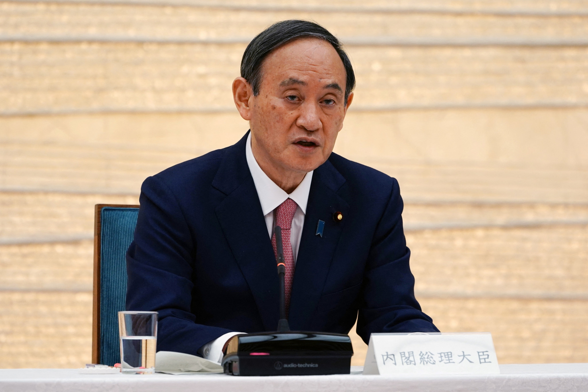 Yoshihide Suga added Aichi and Fukuoka to the state-of-emergency resirictions, set to run until at least May 31 ©Getty Images