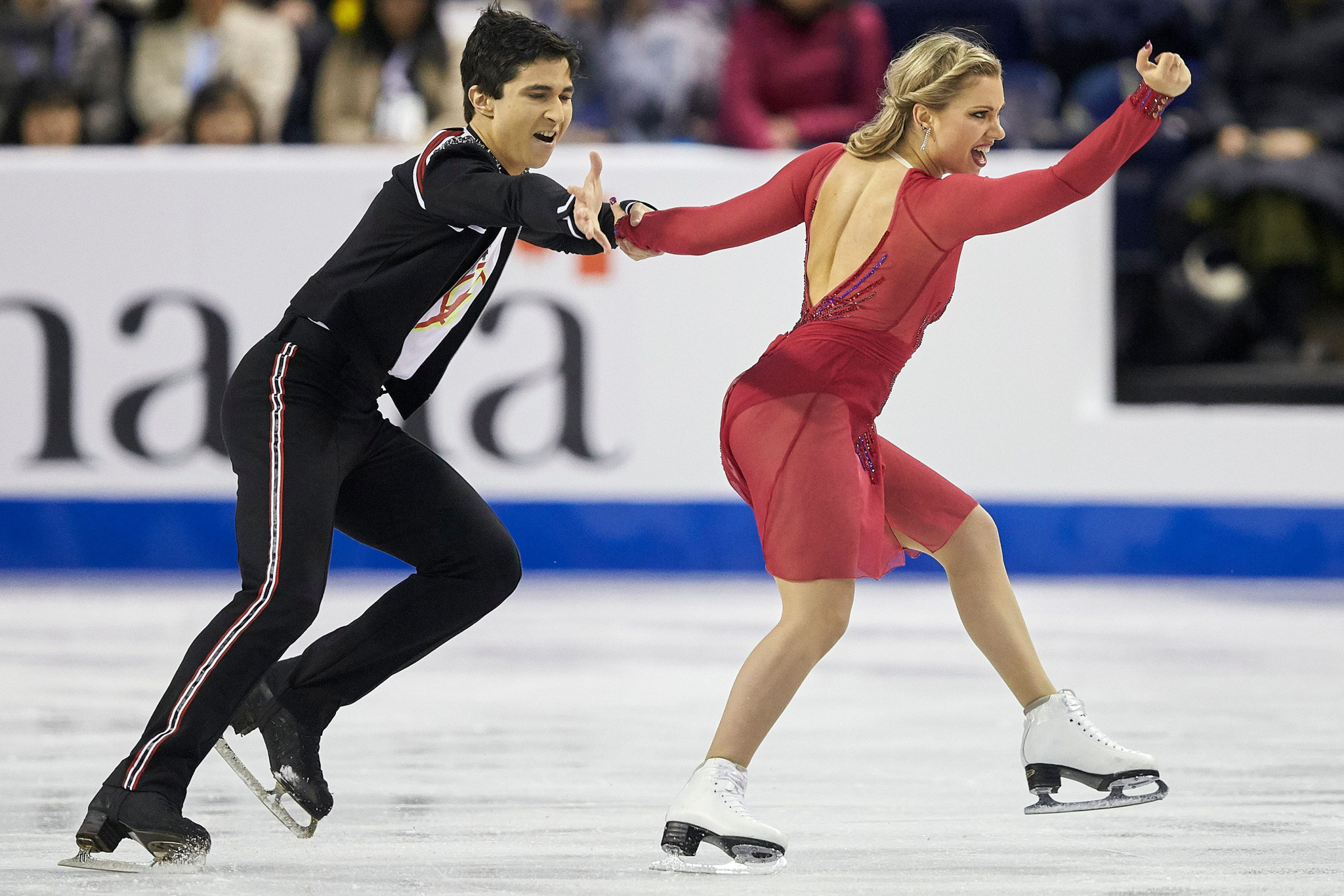 Marjorie Lajoie and Zachary Lagha captured ice dancing gold for Canada when the World Junior Figure Skating Championships were held in Zagreb in Croatia in 2019 ©Getty Images