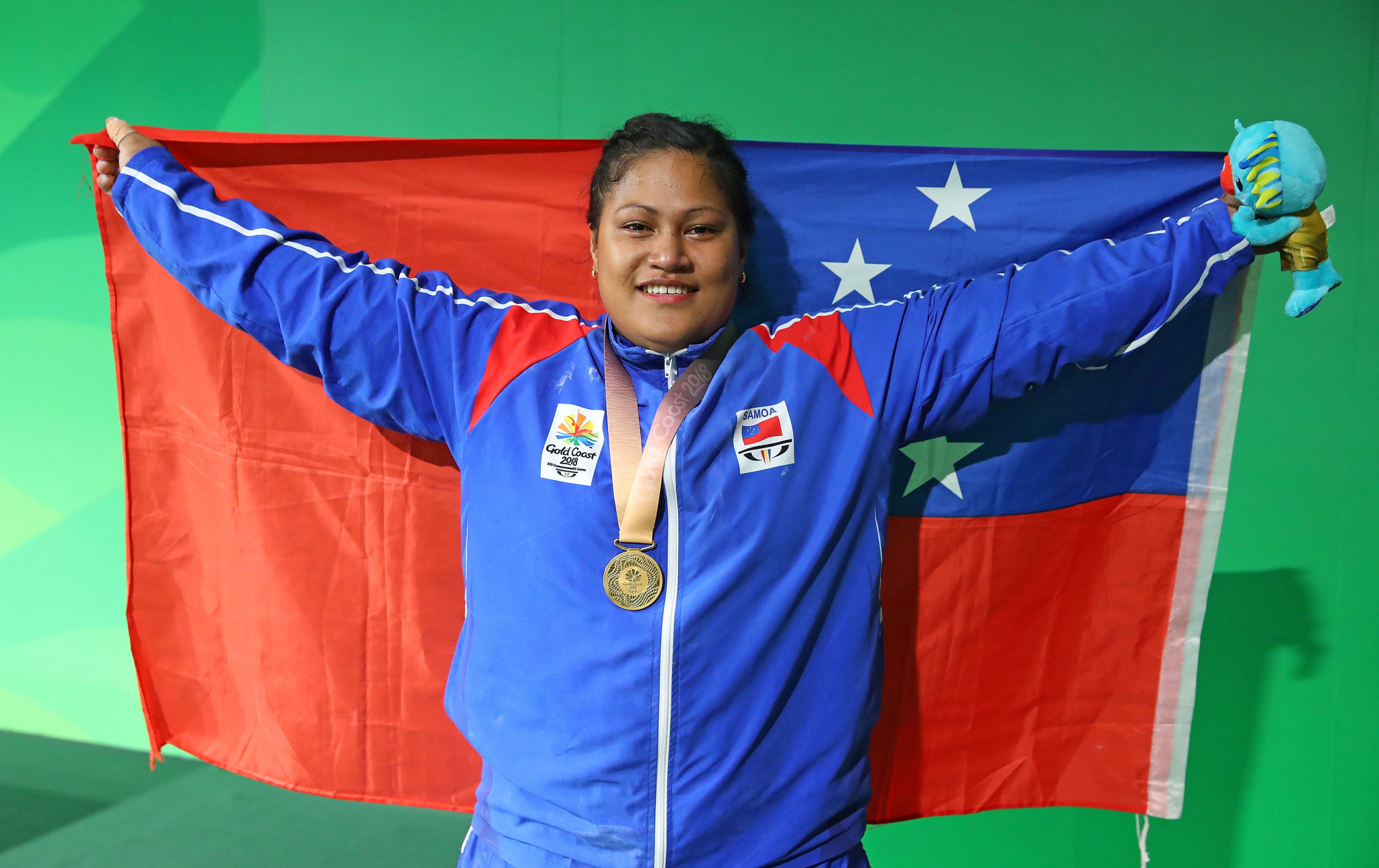 Gold medallist from the Gold Coast 2018 Commonwealth Games Feagaiga Stowers, is likely to qualify for Tokyo 2020 in the women's super heavyweight category  ©Getty Images