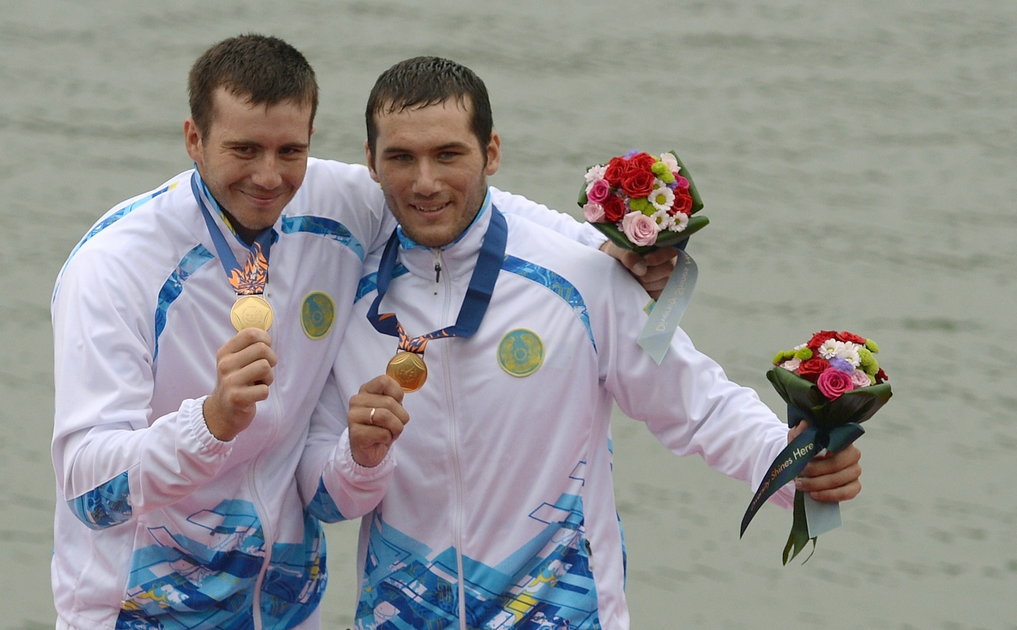 Brothers Sergey and Timofey Yemelyanov secured one of three golds for Kazakhstan at the Asian canoe sprint Olympic qualifiers ©Getty Images