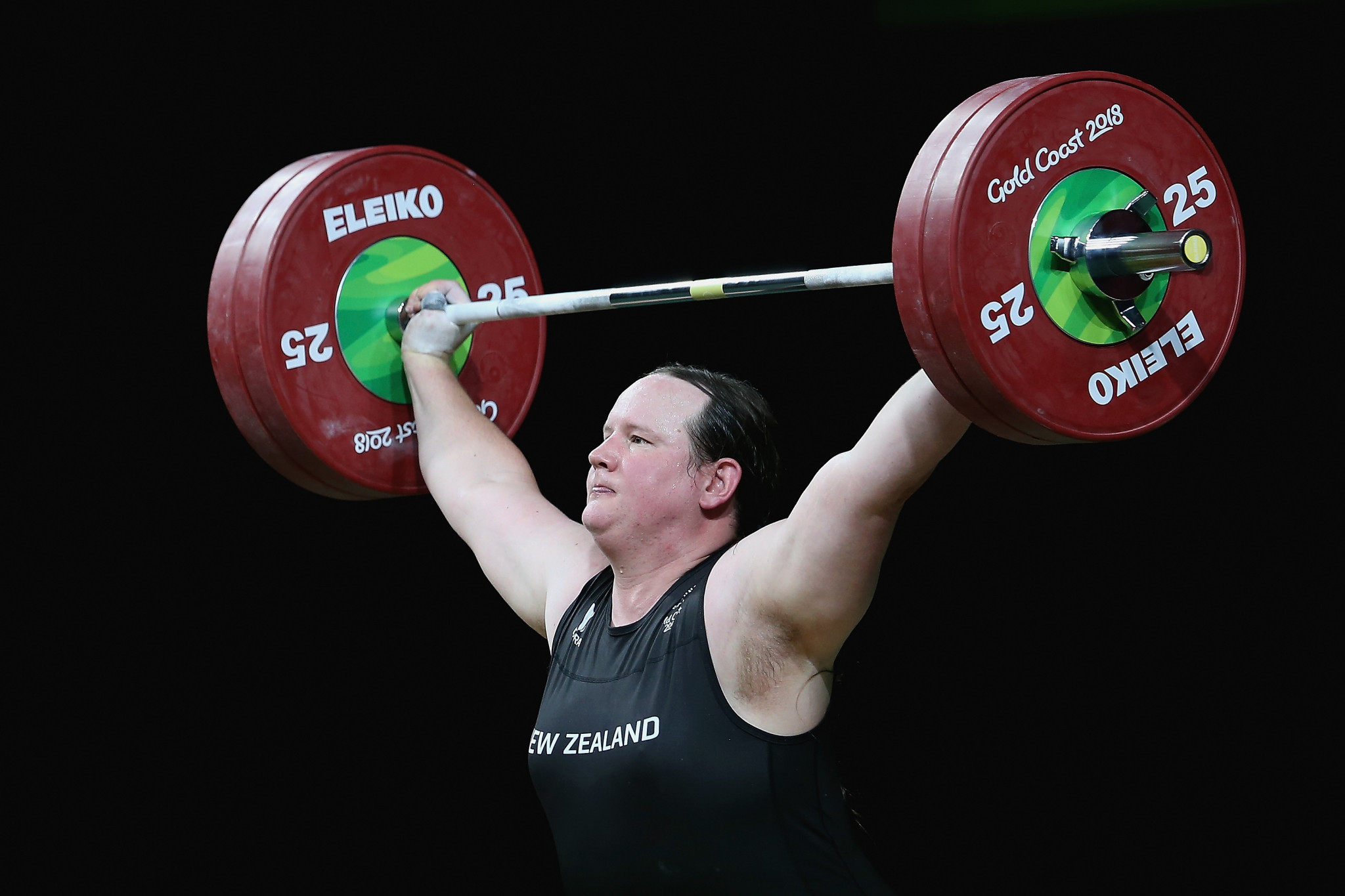 Weightlifter Laurel Hubbard, who suffered a serious elbow injury at the 2018 Commonwealth Games, has been effectively guaranteed a place at the delayed Tokyo 2020 Olympics after a revised qualification process was approved ©Getty Images