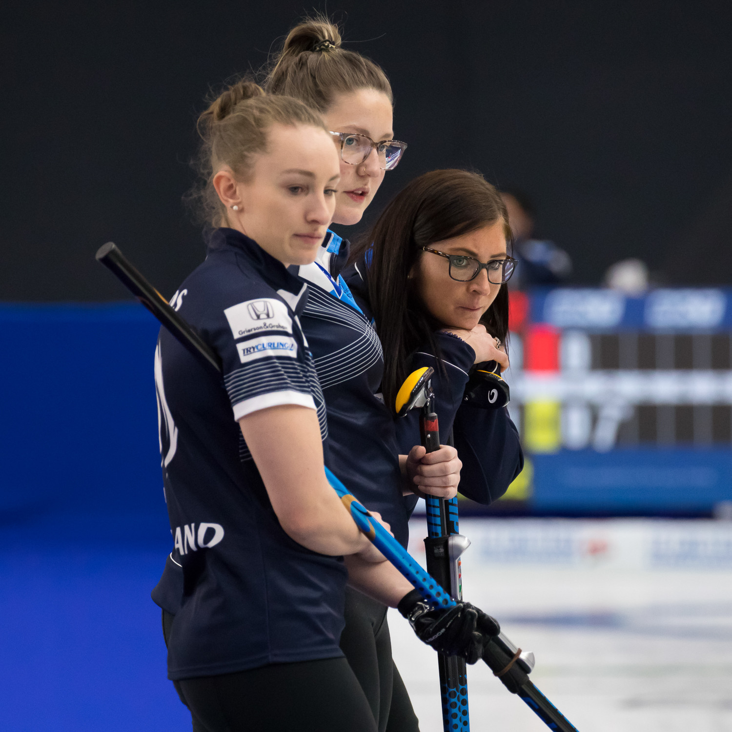 Eve Muirhead's Scotland were knocked out of the World Women's Curling Championship ©WCF/Steve Seixeiro