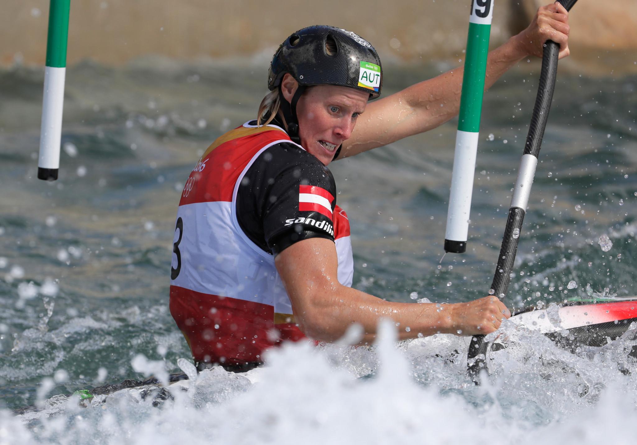 Kuhnle and Prindis win kayak titles at Canoe Slalom European Championships