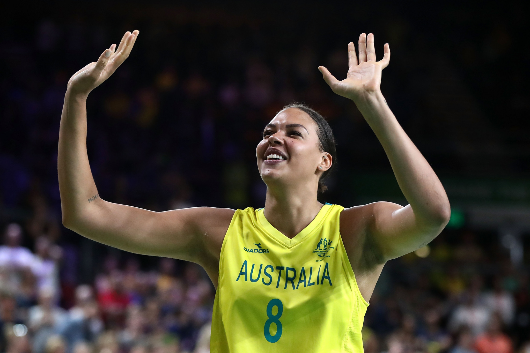 Liz Cambage has criticised the lack of diversity in a recent photoshoot from an Australian Olympic sponsor ©Getty Images