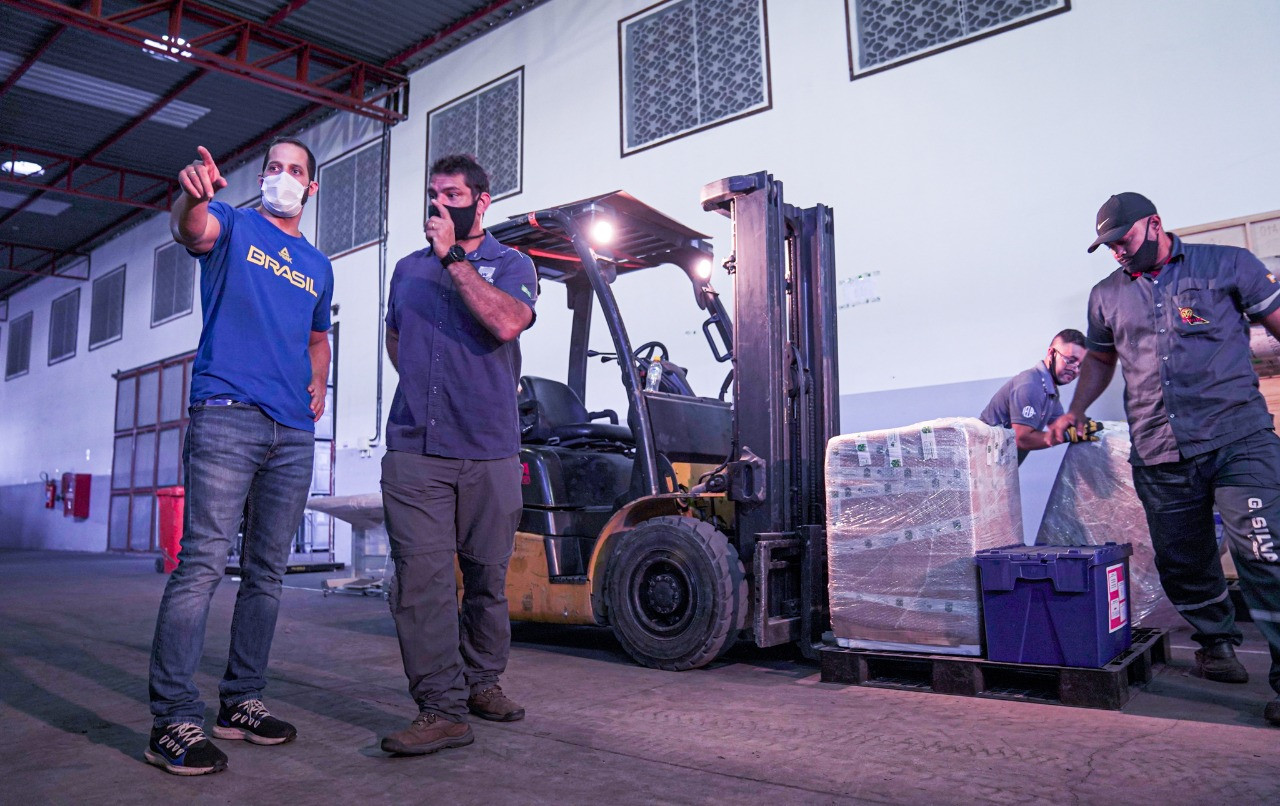 Brazilian Olympic Committee transports 20 tonnes of sports equipment and PPE to Tokyo