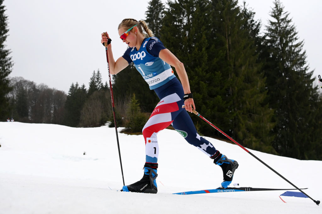 Olympic gold medallist Jessie Diggins heads the US cross-country skiing team for the 2021-2022 season ©Getty Images