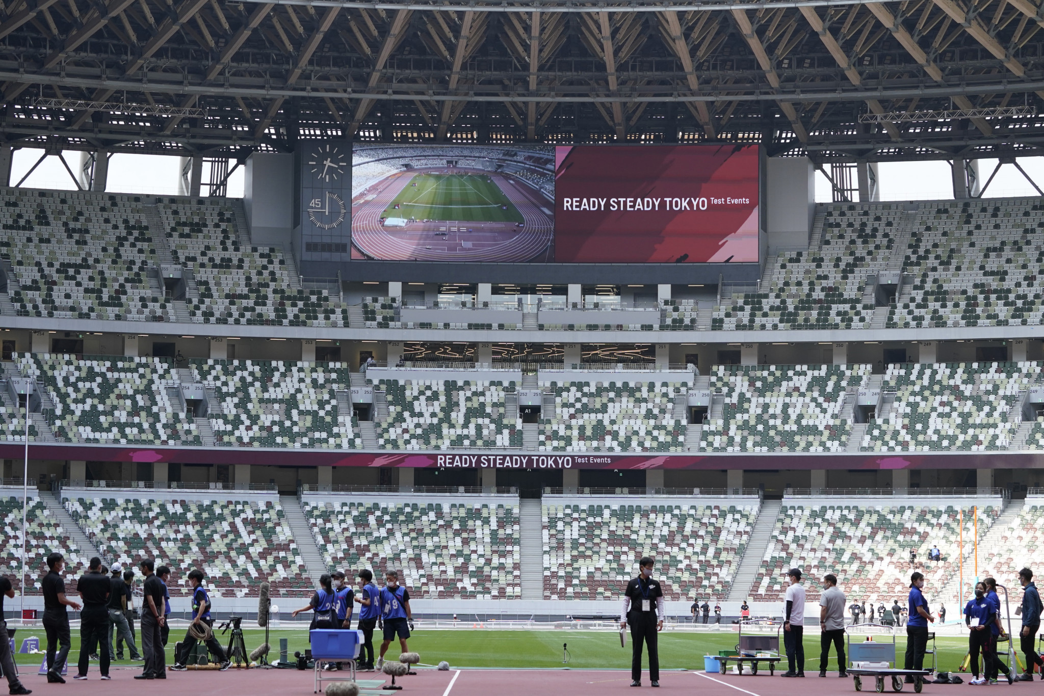 Tokyo 2020 test events, like the athletics event in the Olympic Stadium, are being held behind closed doors ©Getty Images