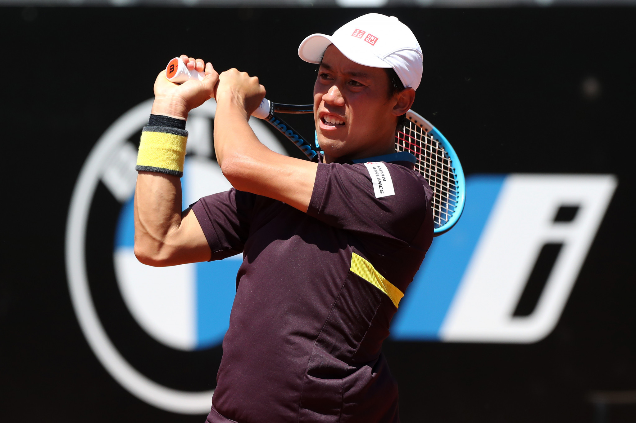 Kei Nishikori has expressed concerns over holding Tokyo 2020 ©Getty Images